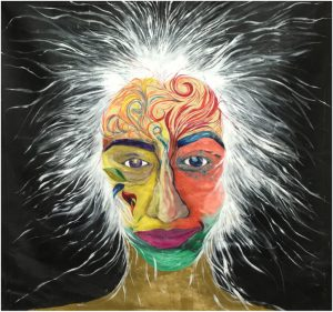 "Grizelle Esther Medina, Self Portrait, Acrylic on Canvas , 60"" x 60"", 2013."