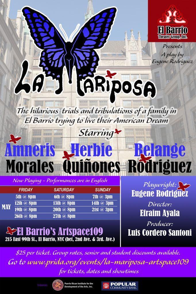 La Mariposa at Artspace - Flier - 8x10